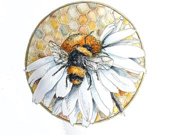 Telling the bees - Foggie toddler, a hand finished limited edition print no11/250