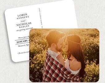 Vintage Save the Date Postcards, Printable Save the Date Postcards, Photo Save the Dates, Photo Save the Date Postcards, Save the Date PDF
