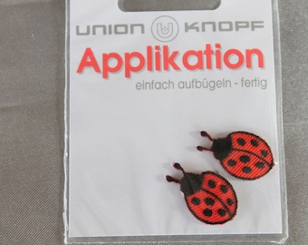 applique, animal, ladybug, red, black craft or sewing