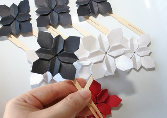 Origami Flower Cake ToppersOrigami FlowerPaper