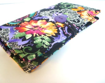 12 - 38 Slot Card Loyalty Card Organizer, Business Card Holder  Credit Card Wallet  With Cash Pockets Summer Night Floral
