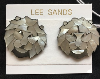 Lee Sands Lion Pendant and Earrings