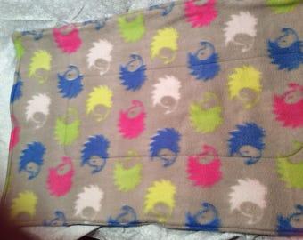 Gray Hedgehog  Fleece  Pet Liner 30x18 Pad Crate Mat Cage Liner C&C Cages 2 layer Fleece Pad