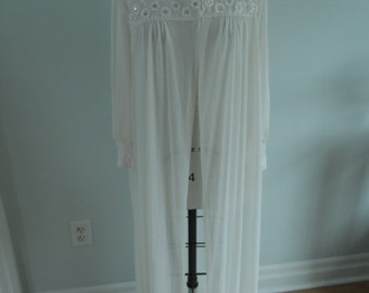 1950's Long White Bed Jacket