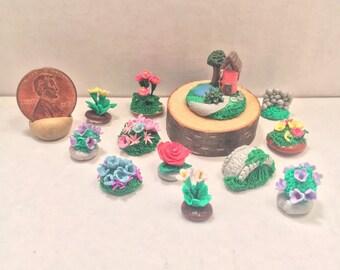Micro Mini Wildflower Village