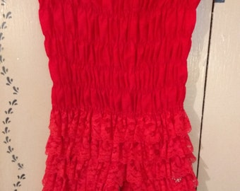 Vintage Ruthad Red Ruffled Bloomers Size S