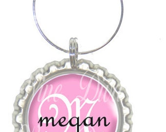Set of 6 - PERSONALIZED WINE CHARMS - Pink Elegance - Perfect For  Bachelorette Party Favors, Wedding Favor, and Parties