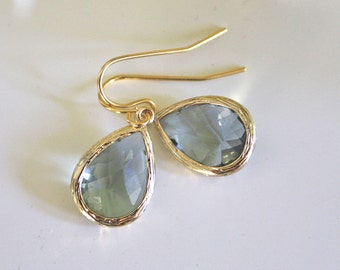Gold Earrings, Gray Earrings Dangle Bridesmaids Jewelry Bridesmaids Gifts bridesmaid earrings, gifts for her best friend gifts birthday gift