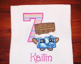 Shopkins Inspired Cheeky Chocolate Birthday Shirt