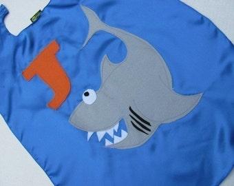 Childrens  Shark Kid Cape Personalized shark week