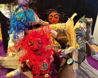 Set of Four Celtic Deity Altar Dolls - On Sale Now!