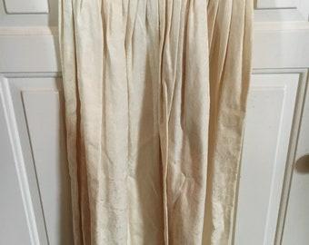 Vintage Cullinane Lady's Ivory Brocade Cotton Skirt