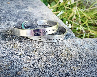 Set of Heavy Sterling Silver Classic Cuffs - Personalized - Your Own Message and Font - Hand Stamped Inside and/or Outside