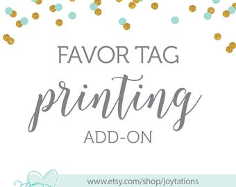 Printed Favor Tag Add-On