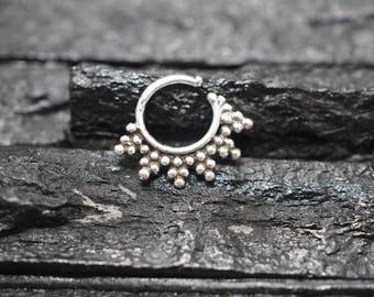Silver ear tragus. tragus earring. tiny hoop earrings. daith piercing. helix earring, Body Jewelry, Jewelry, Piercing, Body Jewelry piecring