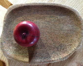 Stone platter, rock plate, centerpiece, top rock, stone serving platter, stone veggie tray
