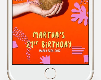 Baby Shower Snap chat filter, Business filter, Beauty Salon filter, 30th Birthday filter, Snapchat Filter, Birthday Snap filter, matisse