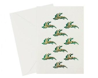 Reindeer Christmas Cards Embossed Christmas Cards Christmas Holiday Cards Set Christmas Greeting Cards Elegant Christmas Card Foil Set