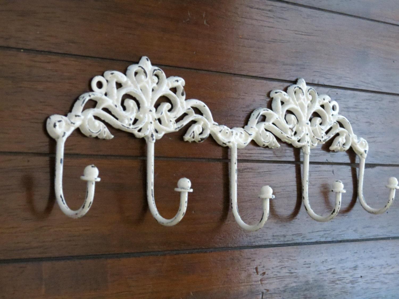 shabby chic wall hook rack entrance coat hanger decorative. Black Bedroom Furniture Sets. Home Design Ideas