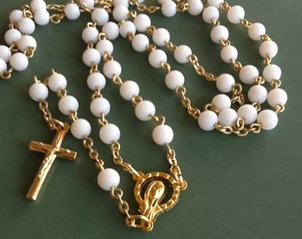 White and gold Rosary