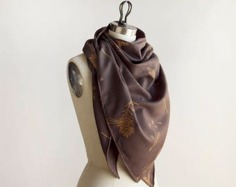 Wool Scarf - wrap - shawl - 'Forest Floor'