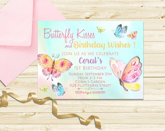 Butterfly Invitation Birthday Party First Printable