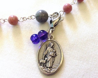 Jesus the Good Shepherd Rosary Marker,  Rosary Place Keeper, Rosary Place Holder, Catholic Gift, Catholic keyring, Religious gift