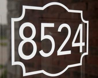 Address with Border 3 (Large) - Vinyl Decal