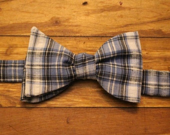 Cotton Bow Tie - Plaid Shirt
