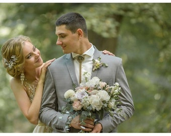 Wedding tie Bolo will make an order. Bridal accessories beaded gemstone jewelry. Bridal jewelry tie. Beadwork tie