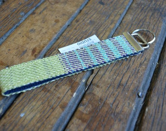 HANDWOVEN Key Fob - TEAL + GREEN
