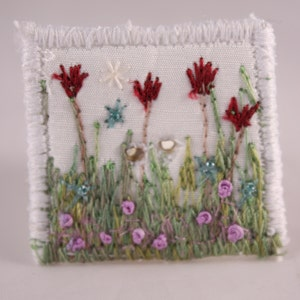Large fabric square button covered button spring floral flower garden white silk embroidered clothing embellishment knitting accessory