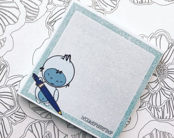 Post it notes - sticky note pads - Beclukasplannershop logo