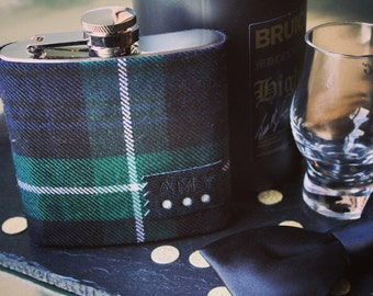 Personalised Tartan Hip Flask, christmas, groom gift, father of the bride, best man