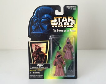 Star Wars Figures 2-Pack, Jawas w/ Glowing Eyes - Original Trilogy, A New Hope Tatooine Star Wars Aliens, Toy Gift for Dad, Fathers Day Gift