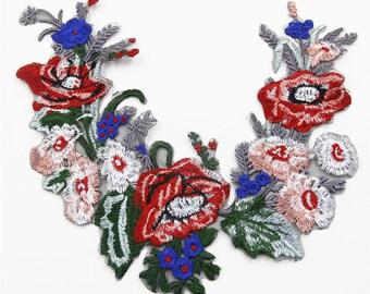 Fashion Garment Accessories, Flower Patches, Flower Applique Patches,Flower Applique,Embroidery Floral Patches,Garment Accessories
