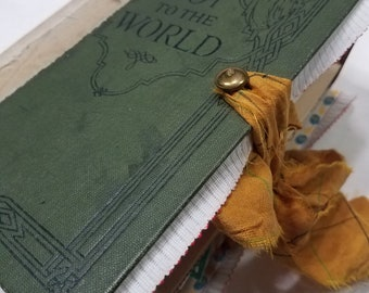 "Repurposed Vintage book Junk Journal, ""Joy to the World"""