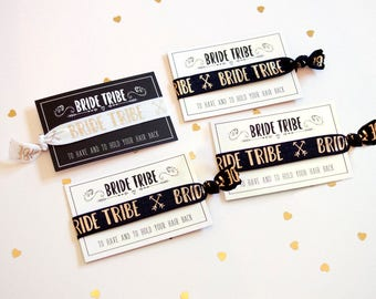 Bride Tribe / Team Bride - Hen Party Favour - Wristband - Hair Band -  Yoga Band