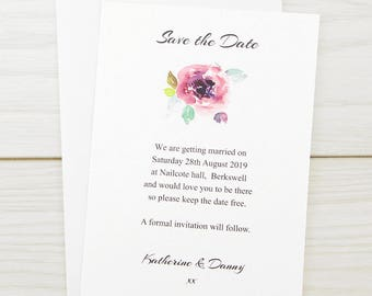SAMPLE * Summer Brights Save the Date Cards