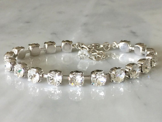 Swarovski Crystal Bracelet,  Silver