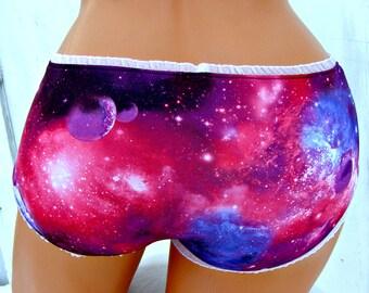 Galaxy Nebula Space bikini boyshort Panties Lingerie your size