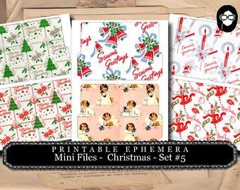 Christmas Clipart - Mini Folder Files - Christmas #5 - 3 Pg Instant Download - clipart christmas, clip art christmas, tsunamirose