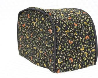 Midnight Floral Quilted Toaster Cover