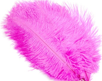 5.7 Inch Hot Pink Ostrich Feathers. (5) Pink Feathers for Wedding Decor. Costume Feathers. Fascinator Feathers. Ostrich Drab Feathers.
