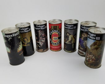 Granges Export Beer III Beer Cans Lot of 7