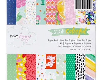 Dear Lizzy Stay Colorful 6x6 Paper Pad   -- MSRP 6.00