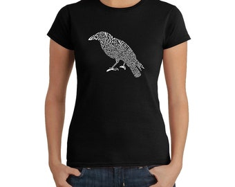Women's T-shirt Created Using the First Few Lines from Edgar Allen Poe's The Raven
