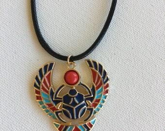 Egyptian Necklace Horus Necklace Scarab Necklace
