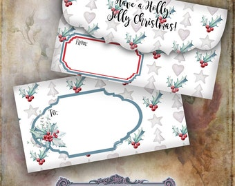 3 Christmas Envelopes Set 2