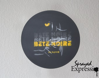 Custom Business Logos & Advertising Signage, Spray Paintings on Vinyl Record - Made to Order